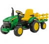 Traktors + piekabe bērniem 12V/8AH